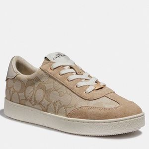 🆕 ➳ Coach Light Khaki/Nude C Logo Sneakers